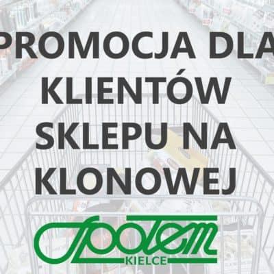Promocja w sklepie na Klonowej