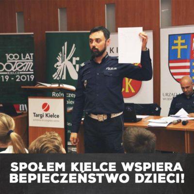 Społem Kielce wspiera bezpieczeństwo dzieci!