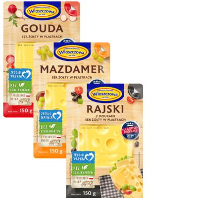 Ser żółty  OSM Włoszczowa – różne rodzaje szt