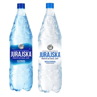 Woda mineralna Jurajska różne rodzaje but 1,5 l
