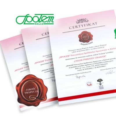 Produkty Społem Kielce z certyfikatem Jakość i Tradycja